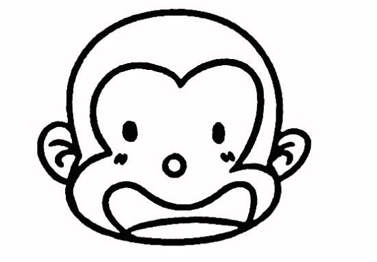优秀幼儿画简笔画图片教程 吃的小猴子儿童画动漫想桃子的小猴子图片