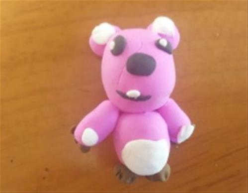 超轻粘土制作小熊的详细教程 橡皮泥手工制作图片
