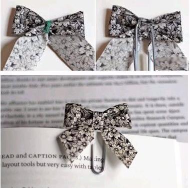 蝴蝶结回形针书签的制作-回形针的用途