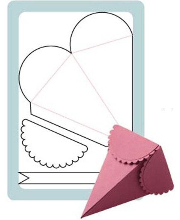 三角形盒子展开图_有创意的包装盒设计 三角形礼物包装盒设计展开图╭★肉丁网
