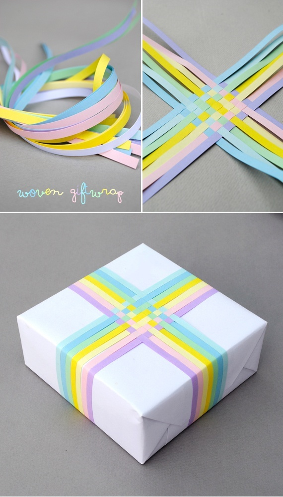 Woven gift-wrap // pastel edition ::::: ❥
