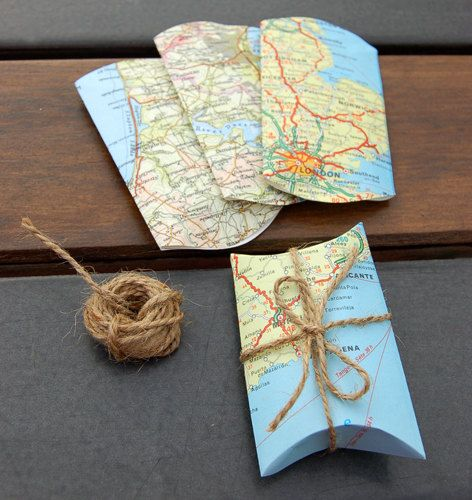 Wrap your souvenirs in the maps you used to travel.