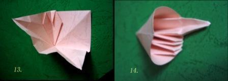 折纸五瓣花步骤图解_手工折纸花球步骤图解 精致五瓣花球的折法╭★肉丁网