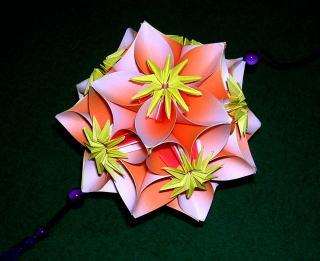 折纸五瓣花步骤图解_折花的方法与图解 五瓣花球折法的变化╭★肉丁网