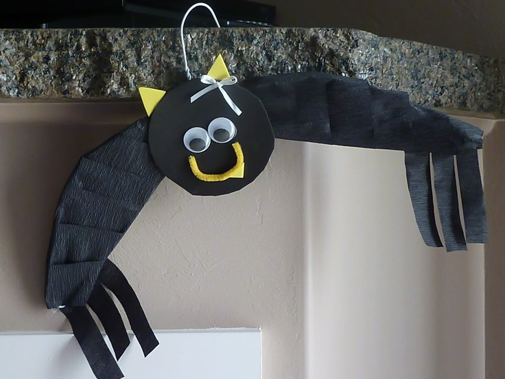 Easy Kids' Halloween Crafts - Wire Hanger Bats