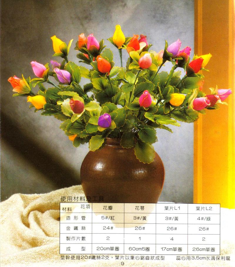 丝网花玫瑰花的制作_DIY玫瑰丝网花的制作方法 丝网花酒瓶玫瑰花苞DIY制作图解
