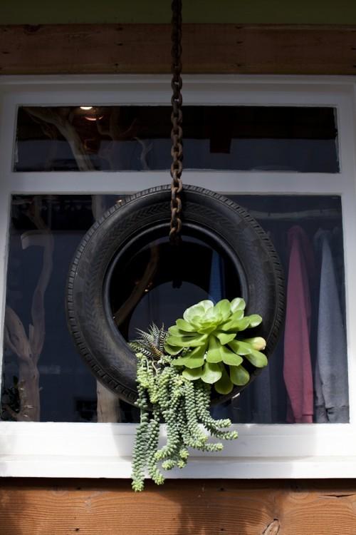 旧物改造项目 个性创意十足的花盆diy手工制作图片╭★肉丁网