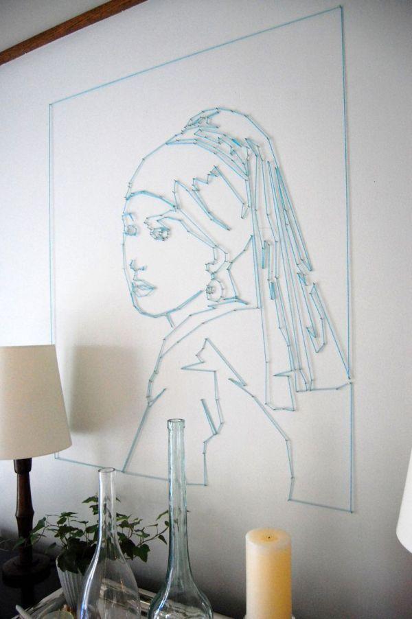 Diy制作个性精美的立体彩线画创意图集 让生活更有趣╭★肉丁网