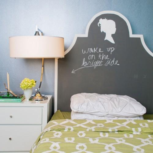 少女家具_创意家具设计之DIY漂亮少女头像小黑板装饰床头╭★肉丁网