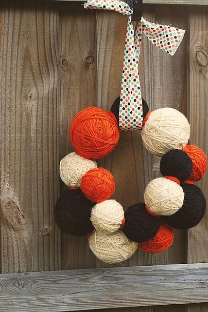 毛线diy手工制作 旧毛线花环等创意小饰品╭★肉丁网