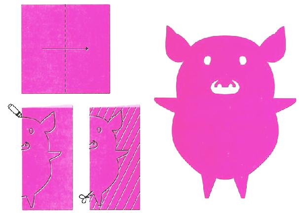教小朋友剪7款會飛的小動物_動物剪紙步驟圖分享