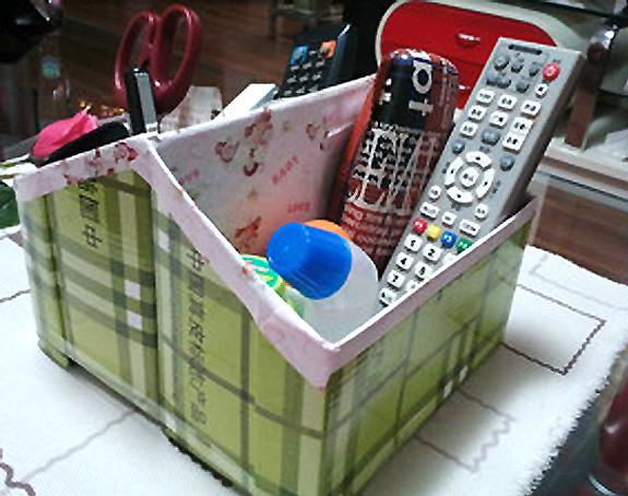 生活小创意废物利用_简单鞋盒自制收纳盒 鞋盒废物利用手工图片教程╭★肉丁网