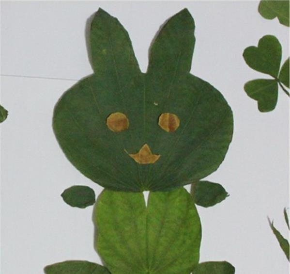 用树叶做成的画_儿童树叶粘贴画图片及树叶画的制作方法教学 肉丁儿童网