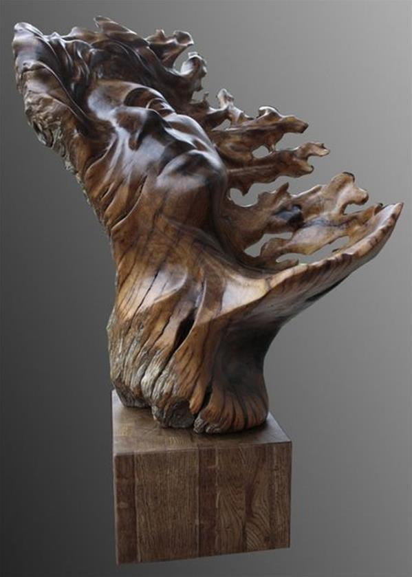 可爱的木雕小玩意创意手工作品图片欣赏╭★ 肉丁网