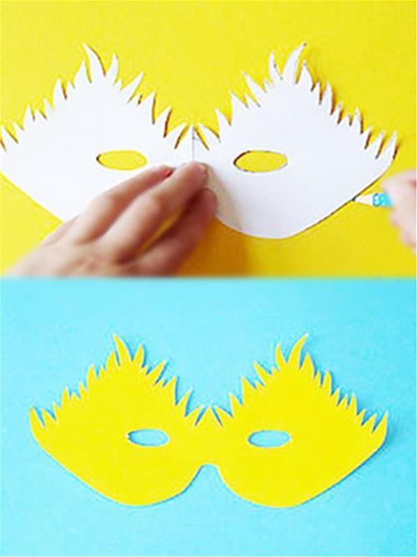 幼儿园简单面具卡纸_幼儿园手工制作图片 可爱的小鸟面具做法图解教程 肉丁儿童网