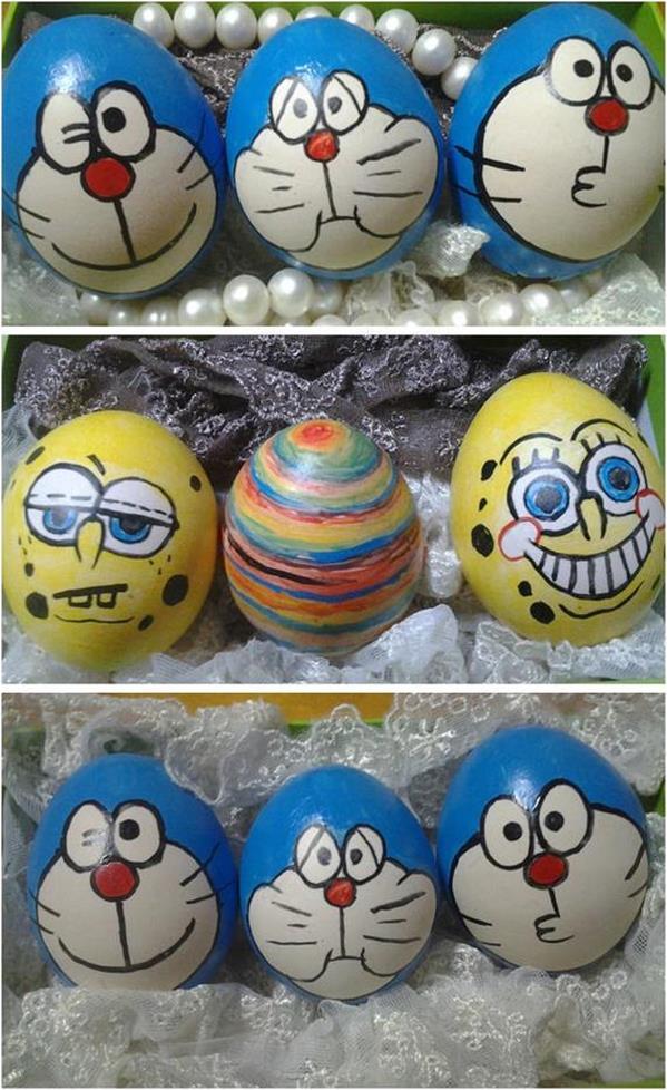 鸡蛋创意画_鸡蛋壳画的做法 蛋壳手绘哈喽尅提的详细画法╭★肉丁网
