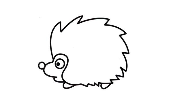 创意DIY简笔画绘画教程可爱的刺猬简笔画步骤图 肉丁儿童网