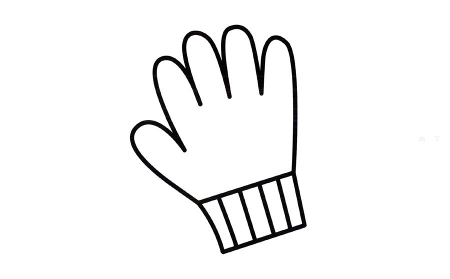 简笔画手套的画法 天天简笔画