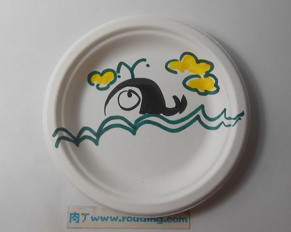 制作纸画盘图片_多彩艺术纸盘画制作教程图片 纸盘画鲸鱼图片素材 肉丁儿童网