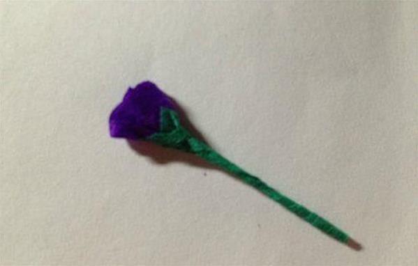 漂亮的薰衣草纸藤花折纸步骤分享