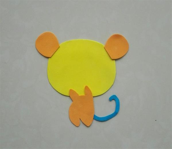 用海绵纸制作动物的图片_教你用海绵纸制作可爱的小老鼠儿童创意粘贴画 幼儿手工制作小 ...