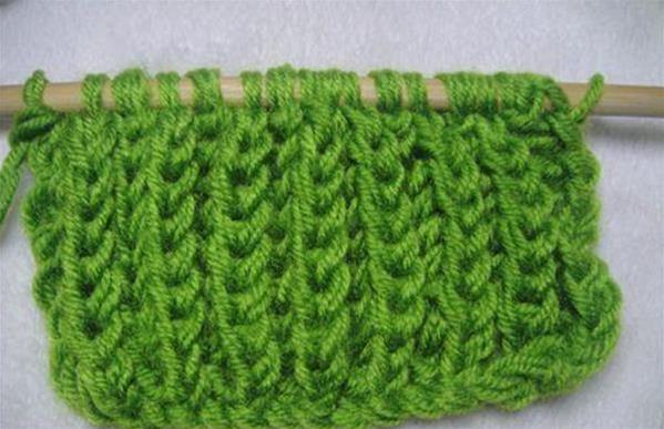 元宝针编织围巾图解步骤分析