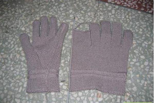 简单五指手套编织过程详解