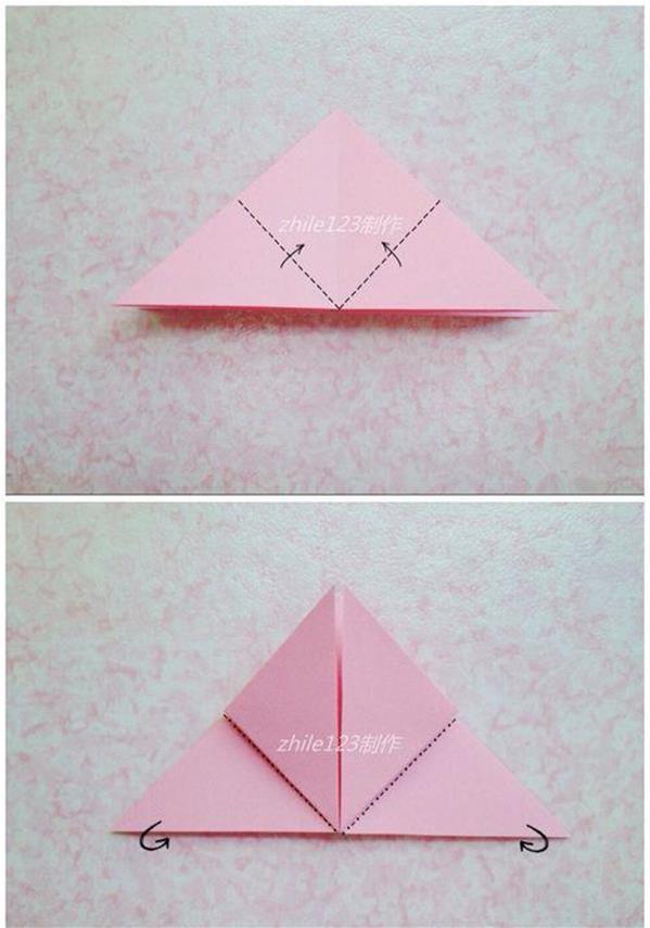 郁金香花的折法图解_简单又漂亮折纸花 郁金香的折纸步骤图解╭★肉丁网