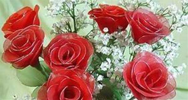 丝网花玫瑰花的制作_教你红玫瑰丝网花的制作方法图解教程