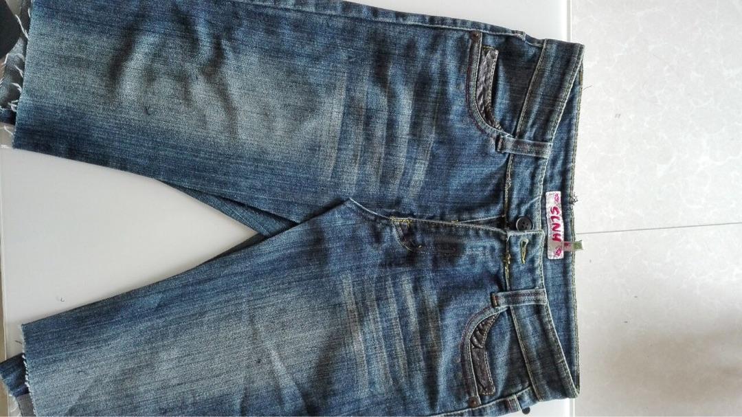 牛仔裤改造牛仔裙_布艺手工旧牛仔裤改造牛仔裙DIY方法详细步骤图解╭★肉丁网