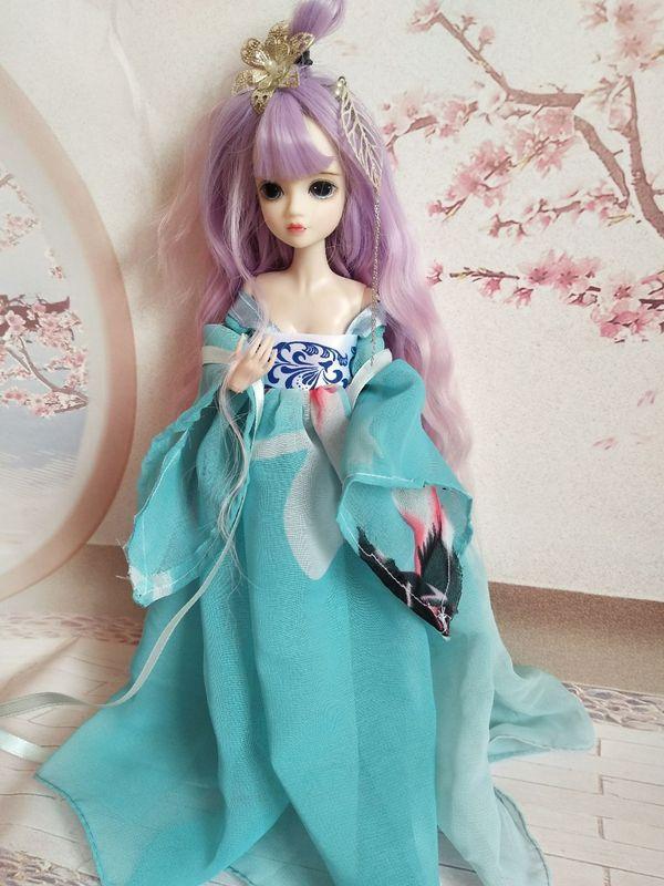 芭比娃娃衣服怎么做_可儿古装 给芭比娃娃做古代裙子的做法╭★肉丁网