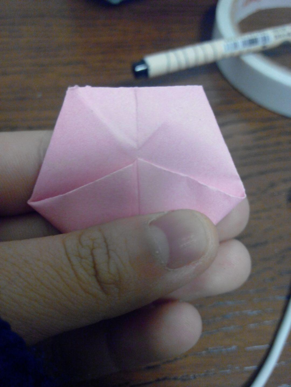 折出美丽的纸樱花-糖果盒超详细简单折纸
