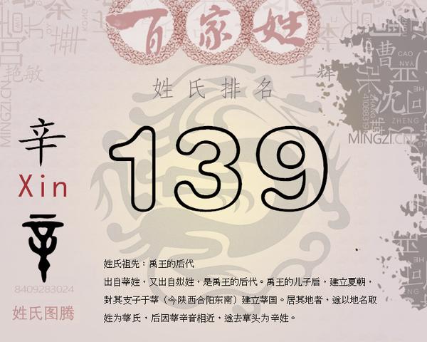中国姓氏人口排行榜_中国辛姓氏排名第几 新中国姓氏人口排名 名字大全