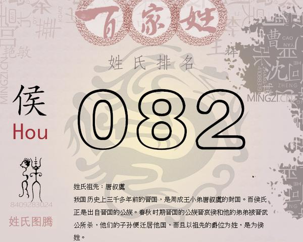 中国姓氏人口排行榜_百家姓侯排名 2018中国姓氏排名人口数量 名字大全
