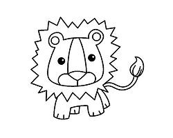可爱小狮子简笔画_狮子卡通图片简笔画|彩色、涂色、黑白线稿狮子头简笔画图片 ...