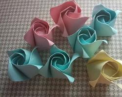 摺紙大全簡單又漂亮 玫瑰DIY摺紙教程