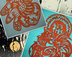 手工摺紙DIY 兩種福雞剪法DIY摺紙教程