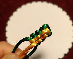 線繩手作技法 方形玉米結的編法
