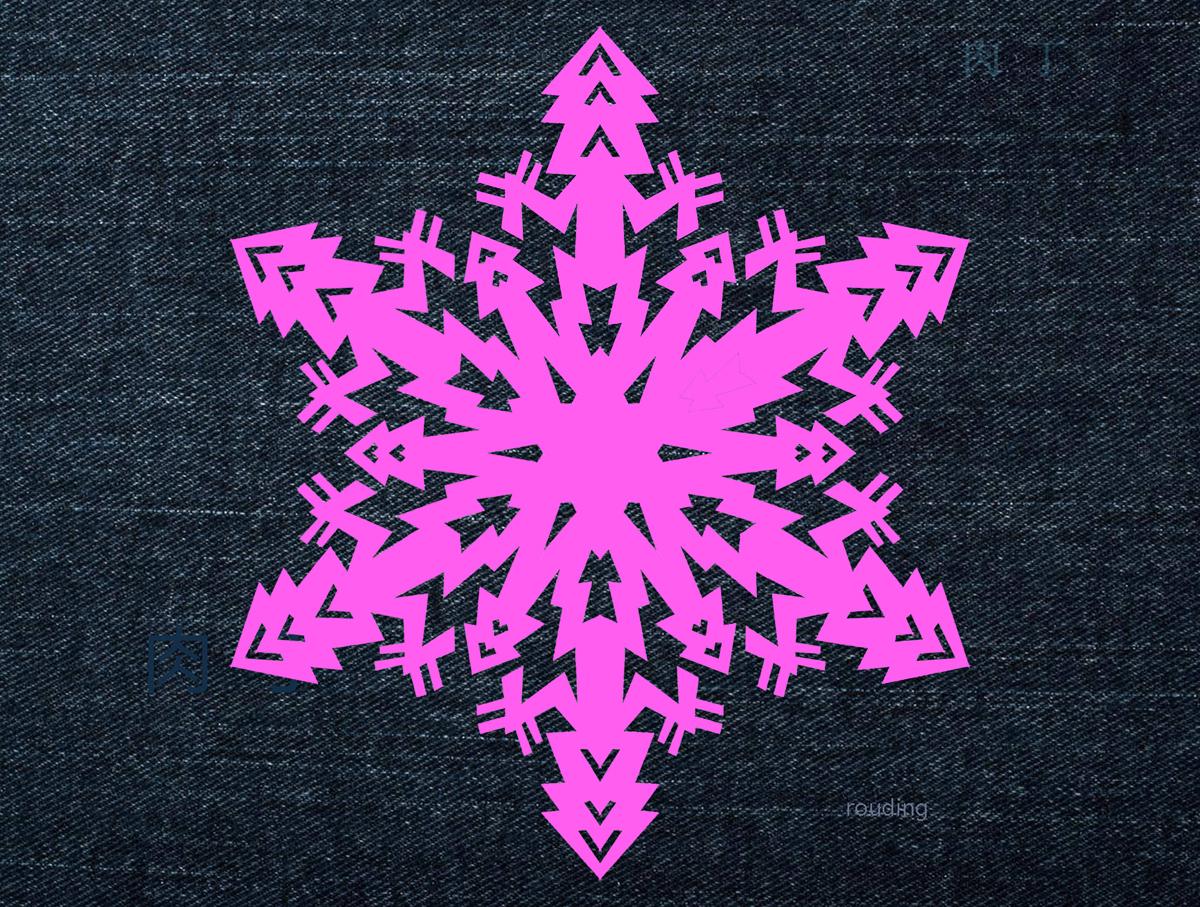 剪纸雪花图案方法_剪纸大全雪花 简单的雪花剪纸图案教程╭★肉丁网