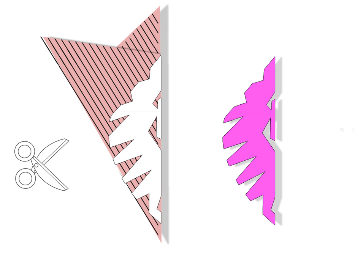 剪纸雪花图案方法_雪花剪纸图案大全 简单雪花剪纸教程╭★肉丁网