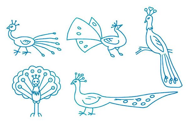 关于孔雀开屏及简笔画孔雀的画法大全 肉丁儿童网