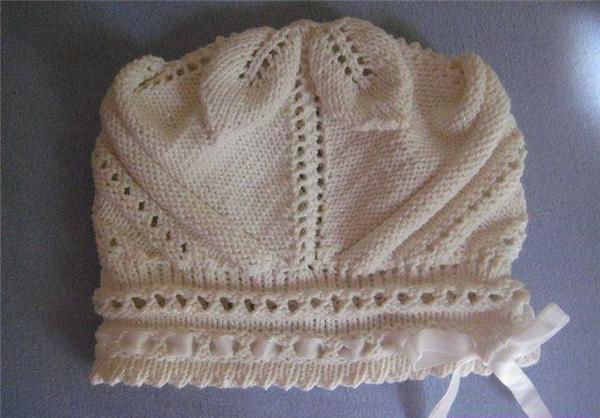 手工编织女宝宝帽子_一款婴儿帽子的手工编织方法图纸╭★肉丁网